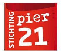 Logo Pier21 realiseert theaterprojecten in Friesland, Nederland en het buitenland met sociaal maatschappelijke thema's. Pier 21 heeft een uitgebreid netwerk opgebouwd van Friese dorps- en gemeente die zich ook actief zullen inzetten voor Koning van het Grasland.