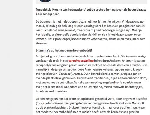 Artikel Dirk Strijker op website www.boerderij.nl